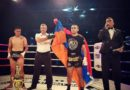 Armenian athlete celebrates another victory